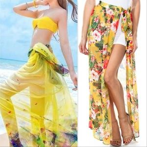FLORAL BIKINI COVER UP / SARONG